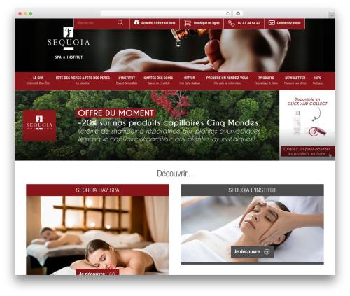 Theme Atmosphère massage WordPress theme - sequoia-spa.fr