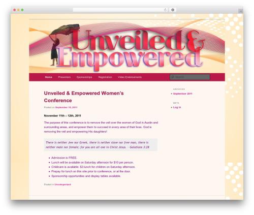 Twenty Eleven WordPress theme - unveiledempowered.org