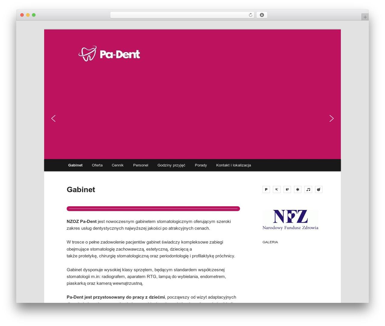 Twenty Eleven WordPress website template - pa-dent.pl