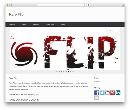 Free WordPress Etoile Theme Companion plugin - rareflip.biz