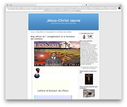 WordPress theme Thème par défaut - christsauve.unblog.fr