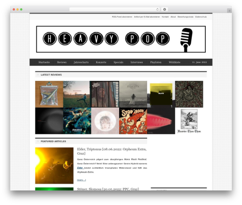 WordPress website template deFacto - heavypop.at