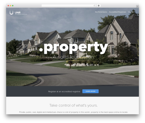 WordPress website template Uniregistry - nic.property