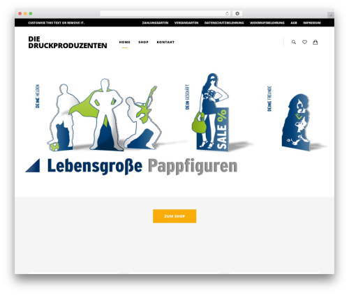 UX Shop WordPress shop theme - druck-produzenten.de