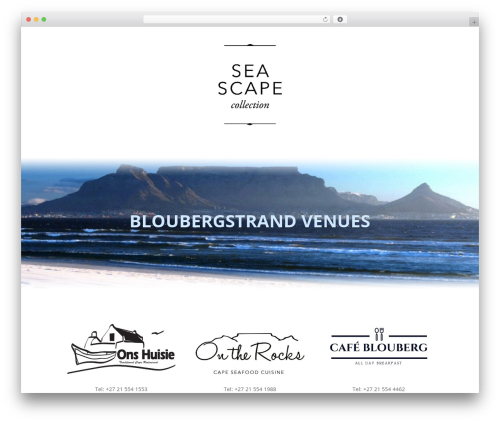 Divi best restaurant WordPress theme - seascapecollection.co.za