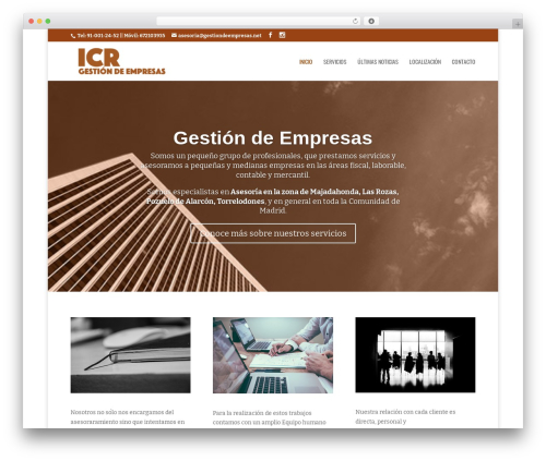 Divi WordPress theme - gestiondeempresas.net