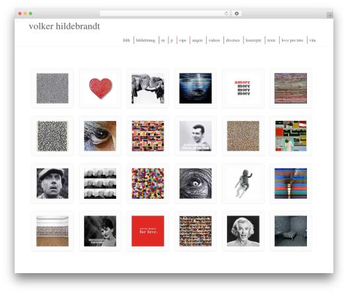 Enlightenment WordPress theme design - volkerhildebrandt.de