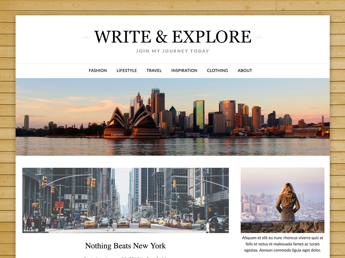 ResponsiveBlogily WordPress blog theme