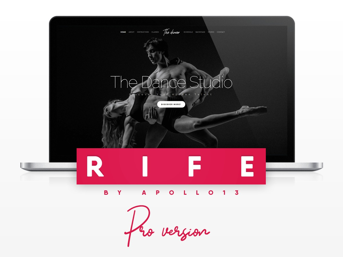 Rife Pro WordPress blog template