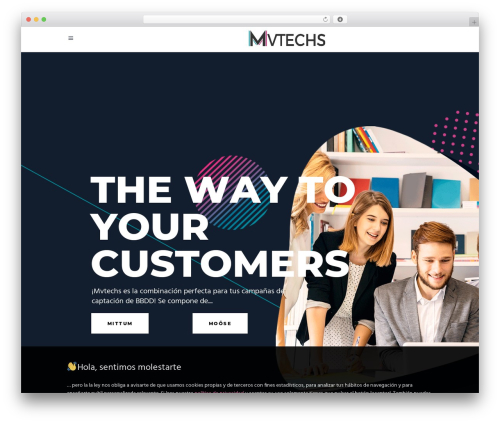 Synergia WordPress theme - mvtechs.net
