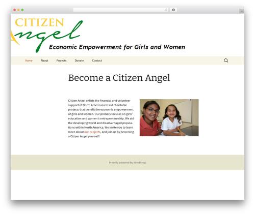 Twenty Thirteen theme WordPress - citizenangel.org