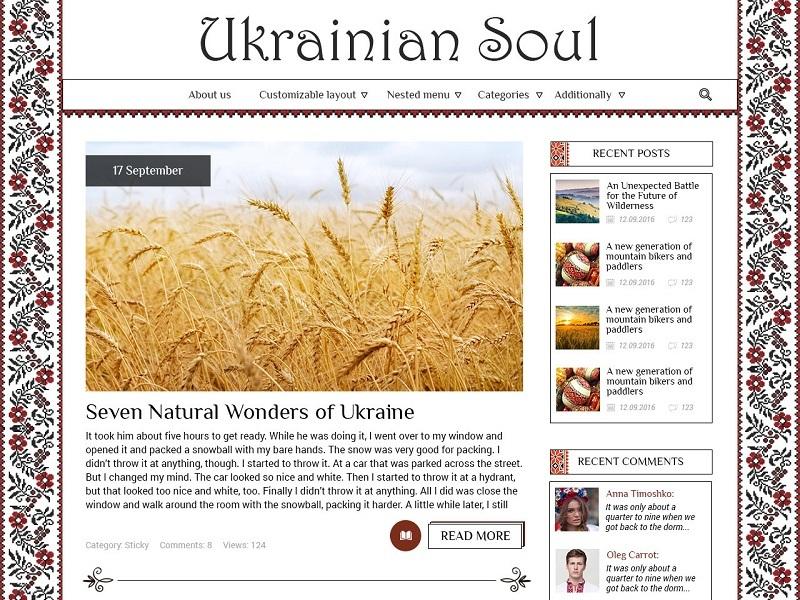 UkrainianSoul WordPress website template