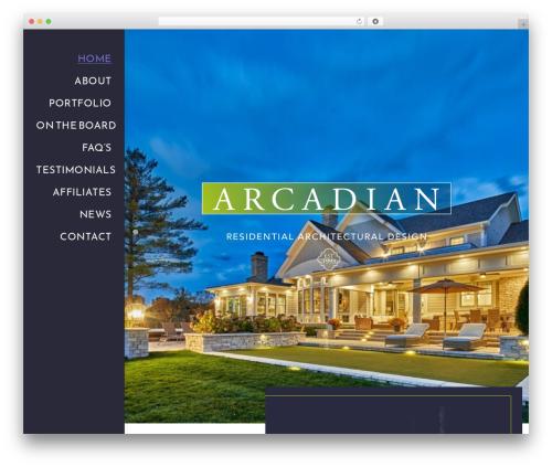 WordPress theme Architekt - arcadiandesign.net