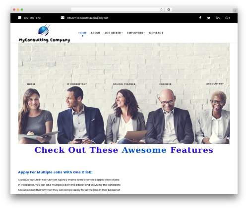 WP theme WP Recruitment - myconsultingcompany.net