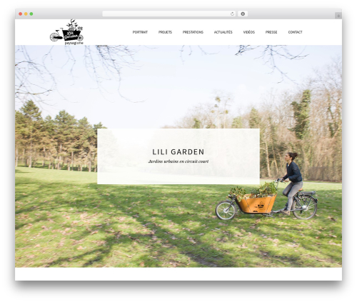 Beau WordPress theme - liligarden.fr