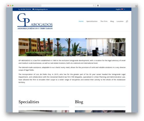 Best WordPress template Divi - gpabogados.eu