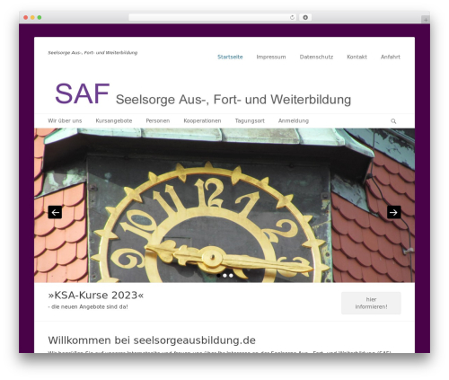 Catch Base Pro WordPress theme - seelsorgeausbildung.de