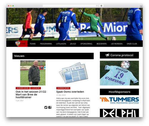 Redesign Sportlinkclubsites WordPress theme - svdosko.nl