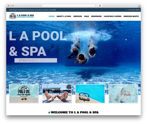 SwimmingPool WordPress website template - lapool.ca