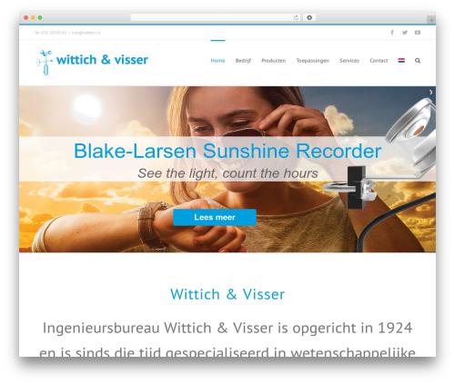 Theme WordPress Avada - wittich.nl