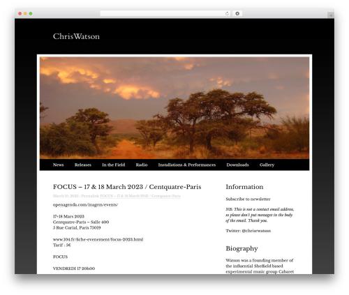 Touch WordPress theme - chriswatson.net