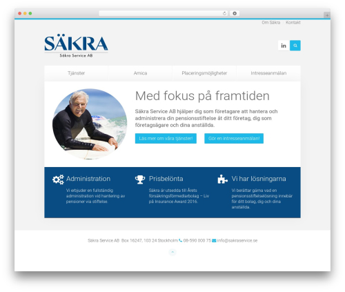Unity theme WordPress - sakraservice.se