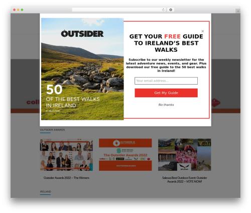 WordPress template Wonderwall Magazine - outsider.ie