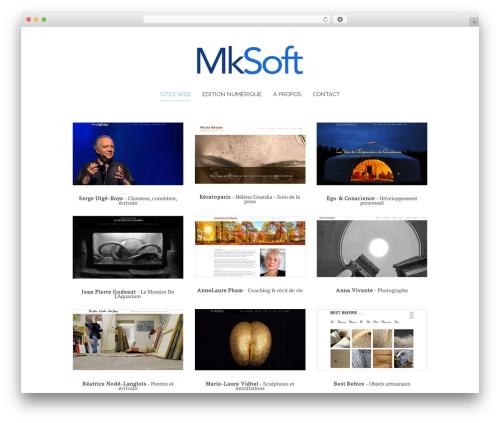 WordPress website template Chester - mksoft.paris