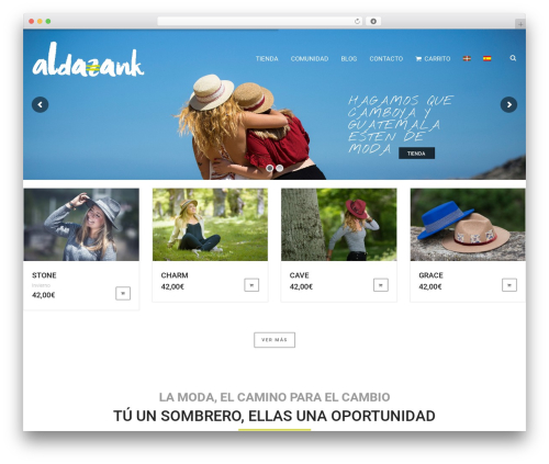 WordPress website template Matty - aldazank.eus