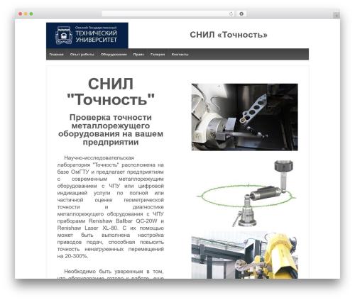 WP theme Responsive - snil-accuracy.ru