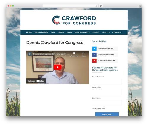 Best WordPress template Socrates v5 - denniscrawford.org