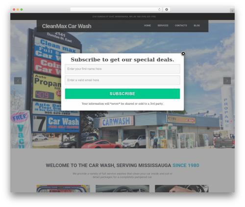CarWash theme WordPress - cleanmaxcarwash.net