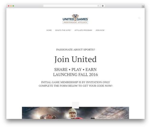 Chester WordPress gaming theme - joinunited.net