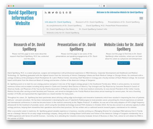 Customizr free WP theme - davidspellberg.info