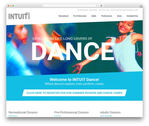 Dance Studio WP template - intuitdance.org