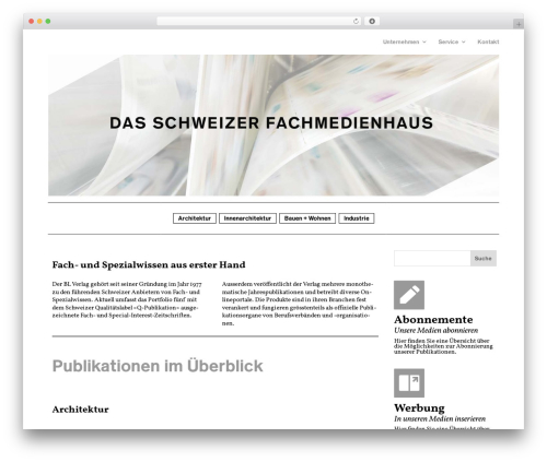 Divi theme WordPress - blverlag.ch