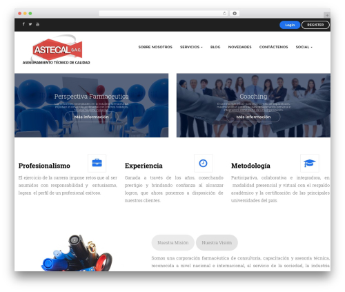 Edubase WordPress theme - astecal.net