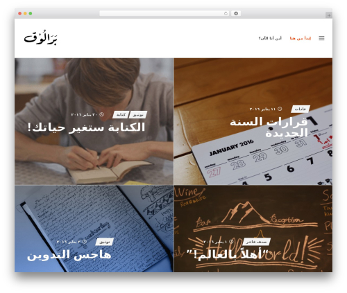SLED theme WordPress - albara.me