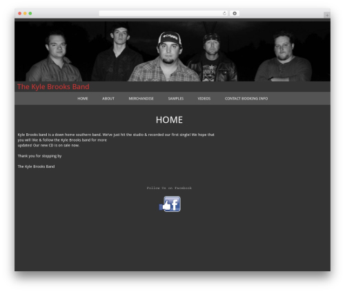 temauno premium WordPress theme - kylebrooks.band