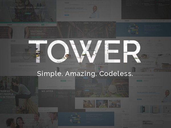Tower WordPress restaurant theme
