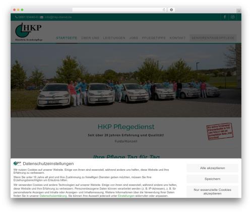 Wlad Framework WordPress theme - hkp-dienst.de