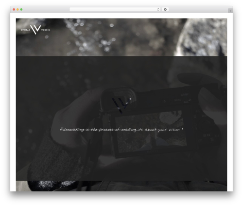 WordPress website template Narcos - ivona.video