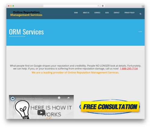Applay best WordPress theme - orm.services