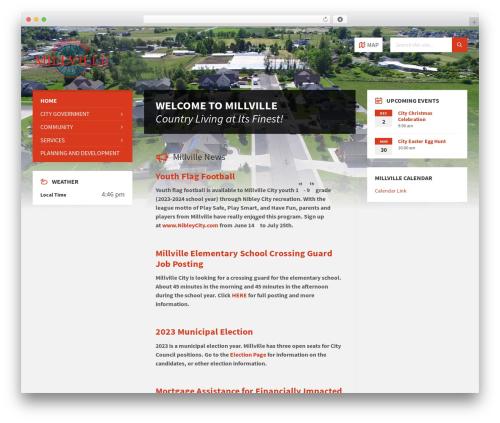 Best WordPress template TownPress - millvillecity.org