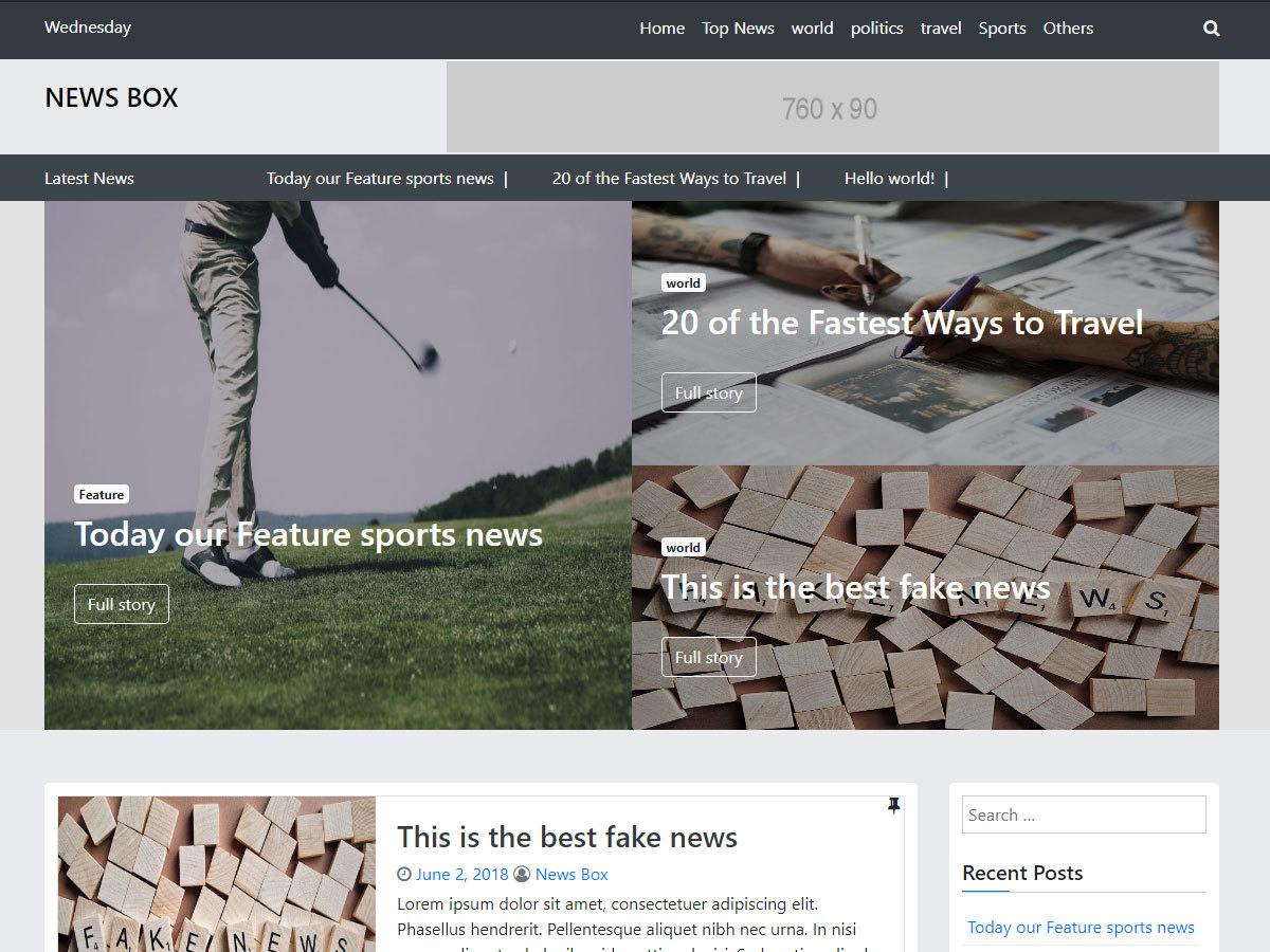 News Box best WordPress magazine theme