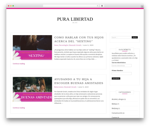 Pro Blog WordPress blog theme - purefreedomjarabacoa.info