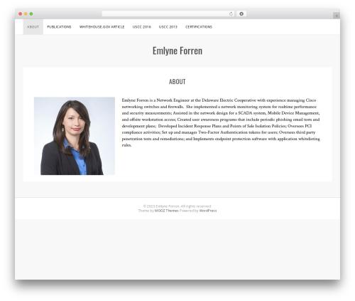 Sanremo WordPress theme design - forren.ninja