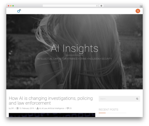 Smallblog WordPress template free - artificialintelligenceinsight.org