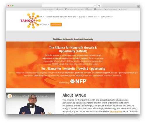 WordPress website template Divi - tangoalliance.org