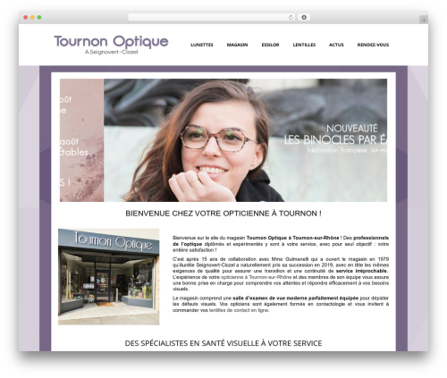 Auxane Opticiens WordPress theme design - tournonoptique.fr